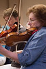(R to L): Joyce Rizzolo, Rachel Jongerius  -- Symphony of the Potomac rehearsal, May 2014