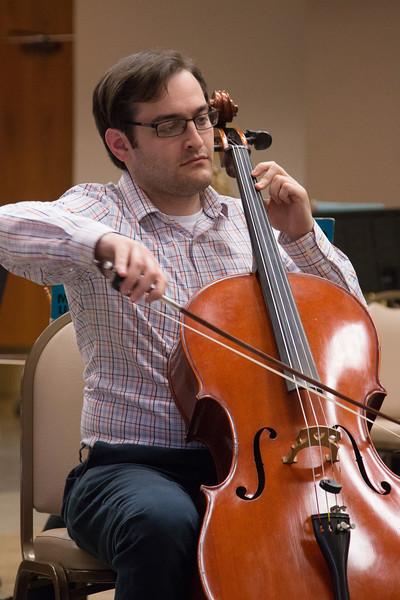 Phil Hummel -- Symphony of the Potomac rehearsal, May 2014