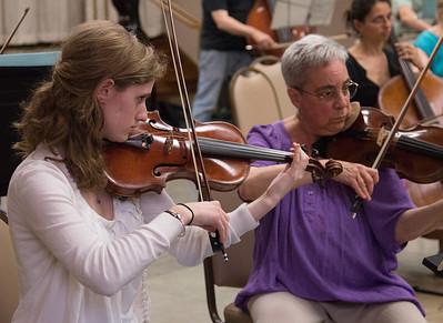 Abigail Jablansky, Debbie Friese -- Symphony of the Potomac rehearsal, May 2014