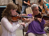 Abigail Jablansky, Debbie Friese -- Symphony of the Potomac rehearsal, May 2014