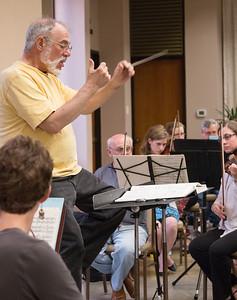 Music Director Joel Lazar -- Symphony of the Potomac rehearsal, May 2014