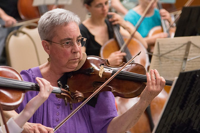 Debbie Friese --Symphony of the Potomac rehearsal, May 2014