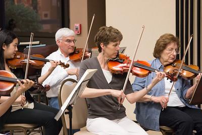 Tiffany Tsay, Michael Lav, Rachel Jongerius, Joyce Rizzolo -- Symphony of the Potomac rehearsal, May 2014