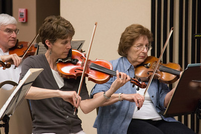 Rachel Jongerius, Joyce Rizzolo -- Symphony of the Potomac rehearsal, May 2014