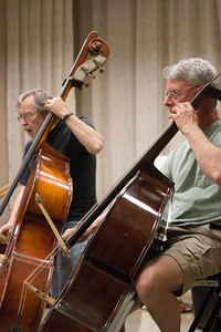 MIchael Rohrer (L) and Robert Busby -- Symphony of the Potomac rehearsal, May 2014