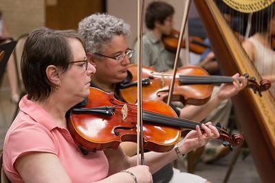 Harriet Guskin, Jessica Sunshine -- Symphony of the Potomac rehearsal, May 2014