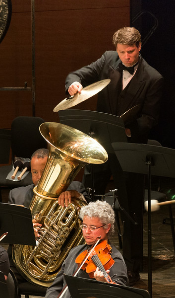Time to put a lid on the tuba! -- Symphony of the Potomac, Silver Spring, MD, June 2014