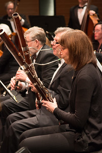 Hillary Burchuk and Don Loomis, bassoons --Symphony of the Potomac, January 29, 2017
