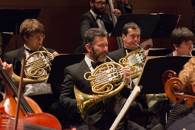 Mark Phillips, center, (with Jamin Morden, Jim McIntyre, Alexander Rise)  -- Symphony of the Potomac at the Cultural Arts Center, Silver Spring, MD, February 2018.