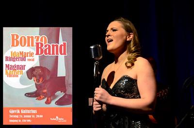 BONZO BAND & VENNER   /   Gjøvik Kulturhus  24/01/2013     --- Foto: Jonny Isaksen   /   Konsertplakat: Tune Into Gjøvik Jazzklubb