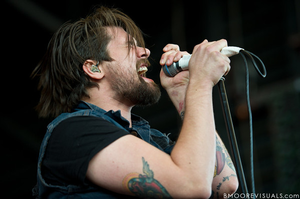Adam Lazzara of Taking Back Sunday performs on December 3, 2011 during 97X Next Big Thing at 1-800-ASK-GARY Amphitheatre in Tampa, Florida