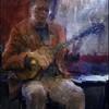 Introvert Guitar.<br /> Henry Linarez on guitar at Tango Y Vinos, Copenhagen.<br /> Photo paint with digital sargent brush in Corel Painter + texture.