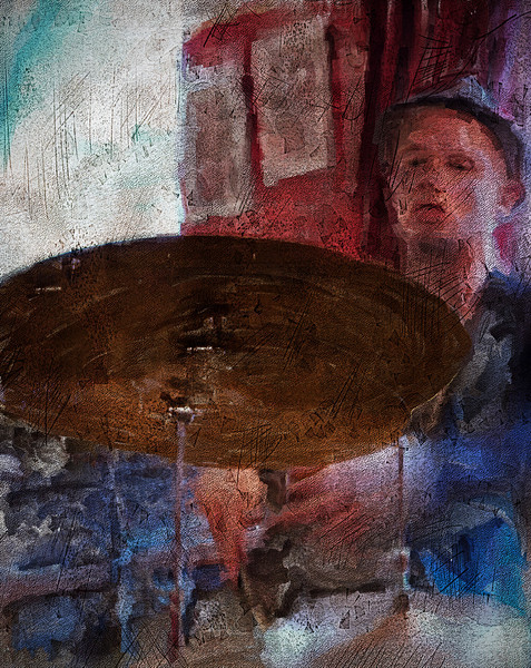 """Beat.<br /> Savery / Snejbjerg / Buhl / Scierling at """"Tango & Vinos"""" bar, Copenhagen, Denmark.<br /> Photo painted made with digital sargent brush in Corel Painter + texture layers."""