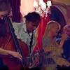 Parade.<br /> Bass Anders Mandrup, guitar Troels Frost, vocal Line Bøgh and sax Steve frost of Nova Blue Band at Tango y Vinos bar, Copenhagen, Denmark.<br /> Photo painted with smeary oil Brush in Corel Painter.