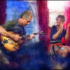 "<a href=""http://jazzbyheart.com/index.html""target=""_blank"">Jazz by Heart</a> Daniel van Kranendonk: guitar and Karin Juhl: vocal at Tango y Vinos, Copenhagen Photo paint with diigtal impressionist chalk brush in Corel Painter + texture layer."
