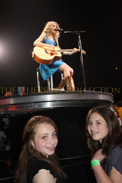 Aluren Gimpel and Alana Galloway are thrilled to see Taylor Swift perform up close at Nassau Coliseum, NY May 15, 2010.