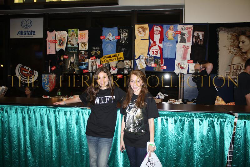 Alana Galloway and Lauren Gimpel buy their Taylor Swift Merchandise, Nassau Coliseum, May 15, 2010