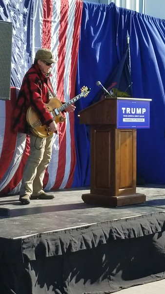 "Ted Nugent Plays ""Fred Bear"" at Trump Jr. Rally Traverse City"
