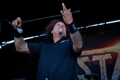Testament  7/10/2011, Rockstar Mayhem Festival, Mt View  My portfolio at http://www.skaffari.fi  On Facebook http://www.facebook.com/Miikka.Skaffari.Photography
