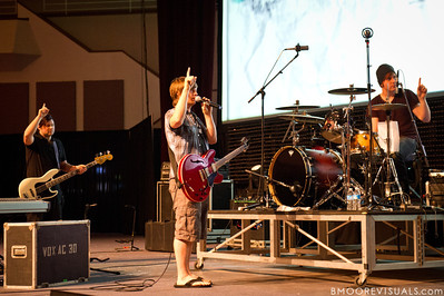 The Afters perform soundcheck in Lakeland, Florida on April 16, 2011