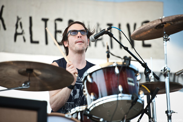Daren Taylor of The Airborne Toxic Event performs on May 28, 2011 at Vinoy Park in St. Petersburg, Florida