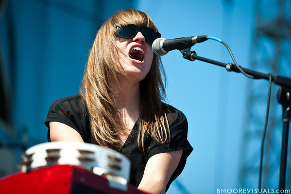 Anna Bulbrook of The Airborne Toxic Event performs on May 28, 2011 at Vinoy Park in St. Petersburg, Florida