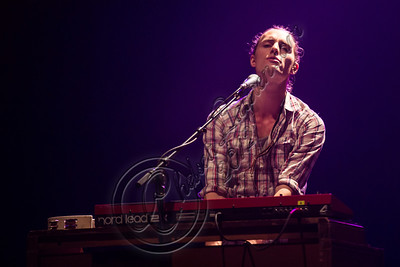 LOS ANGELES, CA - NOVEMBER 03:  Keyboardist Kit French of Parachute performs at The Wiltern on November 3, 2012 in Los Angeles, California.  (Photo by Chelsea Lauren/WireImage)