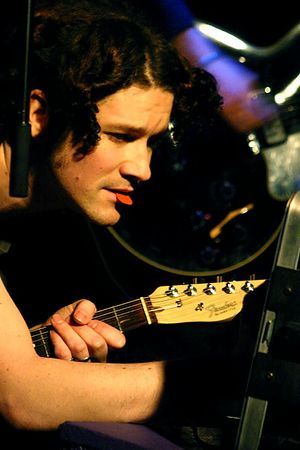 Performing in Glasgow, Scotland On tour with The Dears The Killers were at our show that night, and Dustin almost got in a fight with them. January 2005