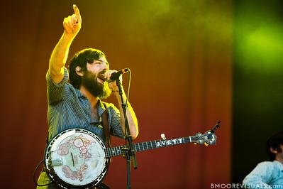 Scott Avett of The Avett Brothers performs at The Citrus Bowl in Orlando, Florida during Orlando Calling on November 12, 2011