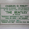 This ticket for the Beatles concert was given to Dale Monaghen to be used as a press pass to cover the event at Municipal Stadium,