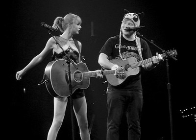 Taylor Swift & Ed Sheeran ~ black and white