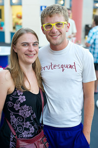 Emily and Jeff Haney from the West Side at PNC Pavilion Thursday for The Decemberists