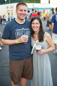 Chris and Maggie Mucha of Oakley at PNC Pavilion Thursday for The Decemberists