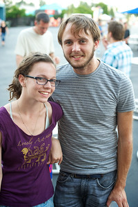 Joci Deaton and Jack Macejko of Cincinnati at PNC Pavilion Thursday for The Decemberists
