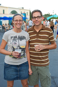 Kate Westrich and Jason Bayman from Clifton at PNC Pavilion Thursday for The Decemberists