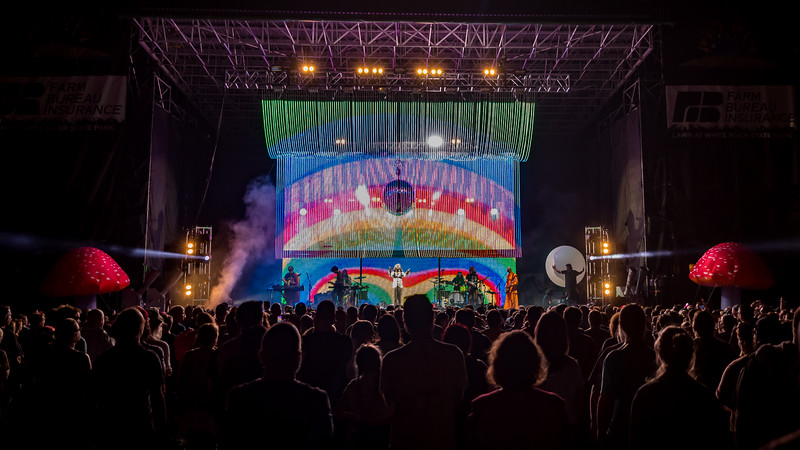The Flaming Lips at the Farm Bureau Insurance Lawn in Indianapolis, Indiana on July 26, 2019. Photo by Tony Vasquez for Front Row Report.