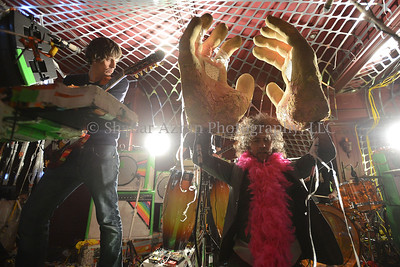 The Flaming Lips Celebrating Ray Ban 75 Years Of Legends at The Darby Restaurant on December 5, 2012 in New York City. Photo credit: Shahar Azran