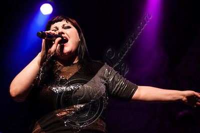 LOS ANGELES, CA - OCTOBER 12:  Vocalist Beth Ditto of Gossip performs at The Fonda Theatre on October 12, 2012 in Los Angeles, California.  (Photo by Chelsea Lauren/WireImage)