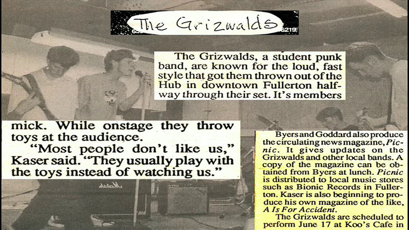 "The Grizwalds: ""Dumb Luck / Take The Skinheads Bowling""<br /> ""Take The Skinheads Bowling"" originally written by Camper Van Beethoven"
