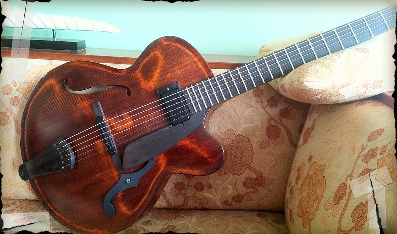 VICTOR BAKER #531 Custom , carved  15inch , short scale