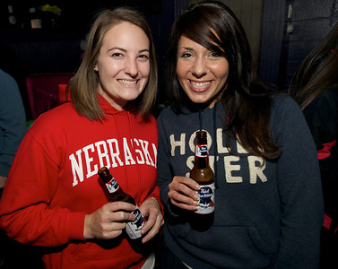 Alicia Baehr and Nicole Filer of Sharonville at Northside Tavern on Saturday