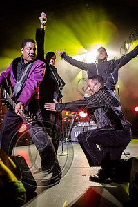 LOS ANGELES, CA - JULY 22:  (L-R) Tito Jackson, Jackie Jackson, Jermaine Jackson and Marlon Jackon perform at The Greek Theatre on July 22, 2012 in Los Angeles, California.  (Photo by Chelsea Lauren/WireImage)