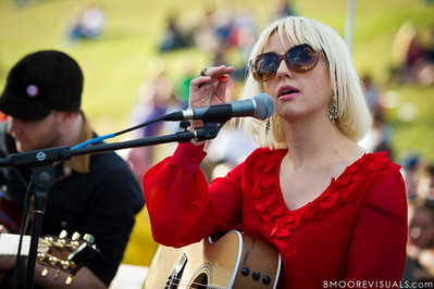 Ritzy Bryan of The Joy Formidable performs an acoustic set on December 3, 2011 during 97X Next Big Thing at 1-800-ASK-GARY Amphitheatre in Tampa, Florida