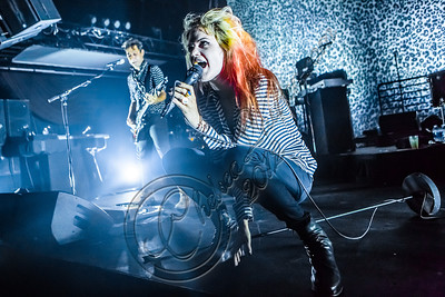 LOS ANGELES, CA - AUGUST 13:  Guitarist Jamie Hince (L) and vocalist Alison Mosshart of The Kills perform at The Mayan on August 13, 2012 in Los Angeles, California.  (Photo by Chelsea Lauren/WireImage)