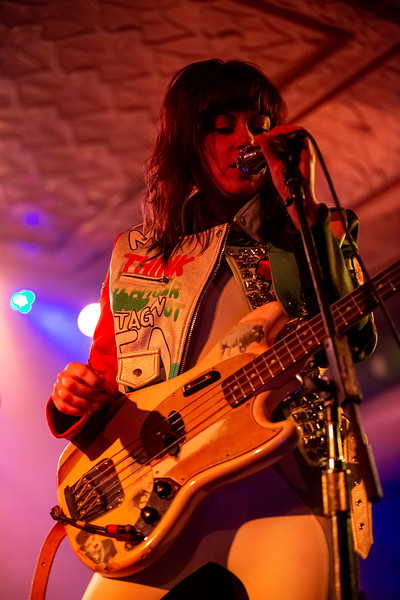 The Last Internationale opening for Tom Morello at the Old National Centre in Indianapolis, IN. Photo by Tony Vasquez for Badass Productions.