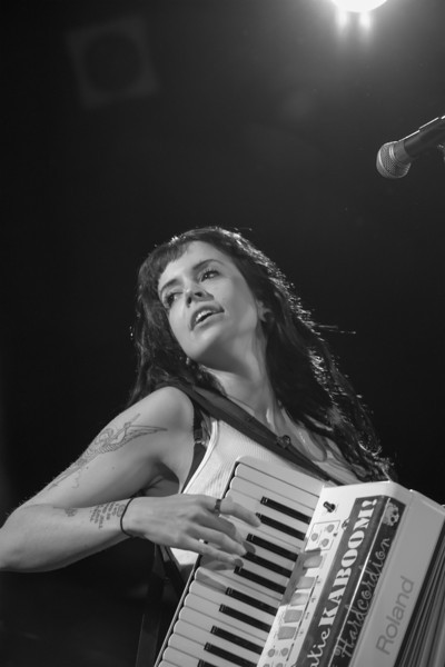 "Katie ""Kaboom!"" McConnell on accordion"