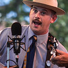 Josh Johnston with King's Highway performs during Bluegrass in the Park at Audubon Mill Park in Henderson.  (Photo by Greg Eans)