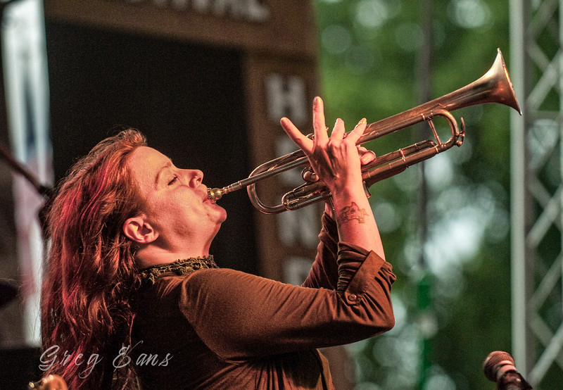 Carolyn Wonderland performs during the W. C. Handy Blues and Barbecue Festival in Henderson.  (Photo by Greg Eans)