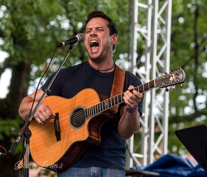 Adam Silvetti  with Mightychondria entertains the crowd at the W. C. Handy Blues and Barbecue Festival in Henderson.  (Photo by Greg Eans)