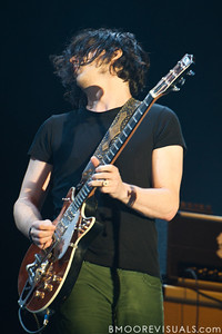 Jack White of The Raconteurs performs at The Citrus Bowl in Orlano, Florida during Orlando Calling on November 12, 2011